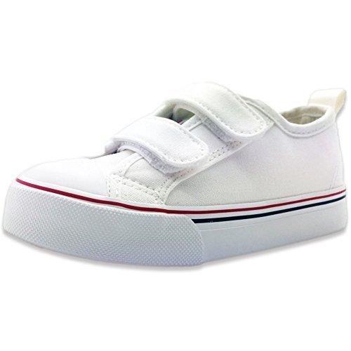 Barerun Baby Jungen Mädchen Schuhe Canvas Sneaker Anti-Rutsch-erste Wanderschuh für Kleinkind Weiß