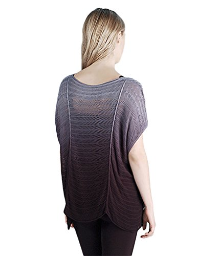 Ombre Boat Neck Pointelle Boxy Top -