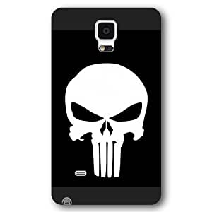 UniqueBox Customized Marvel Series Case for Samsung Galaxy Note 4, Marvel Comic Hero The Punisher Logo Samsung Galaxy Note 4 Case, Only Fit for Samsung Galaxy Note 4 (Black Frosted Case)