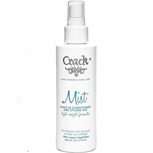 Crack: Anti-Frizz Improved Mist Spray Leave-In Conditioner Styling Aid Light-Weight Formula, 6 oz (New Formula)