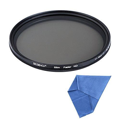 Beschoi 58mm Ultra Slim ND2-ND400 Fader Variable Neutral Density Adjustable Lens Filter Optical Glass by Beschoi