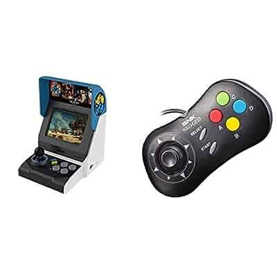 Amazon com: NEOGEO Mini International + Gamepads(Black and White