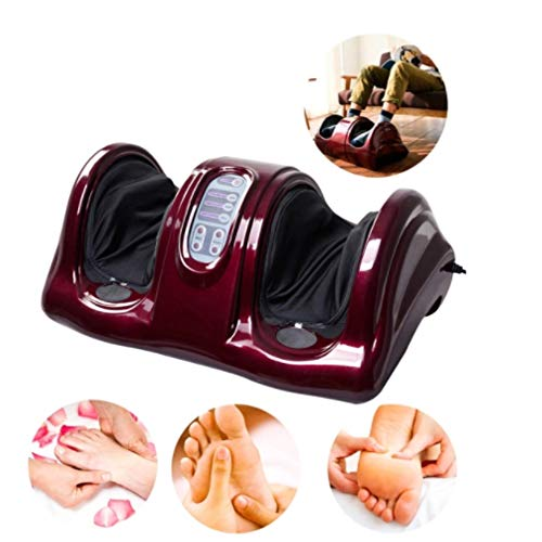 ZQG BEAUTEY Foot Massager Shiatsu Massage Heating Rolling Kneading Deep Tissue Muscle Relief Neuropathy and Plantar Fasciitis Removable Washable Switchable Hot Work,A