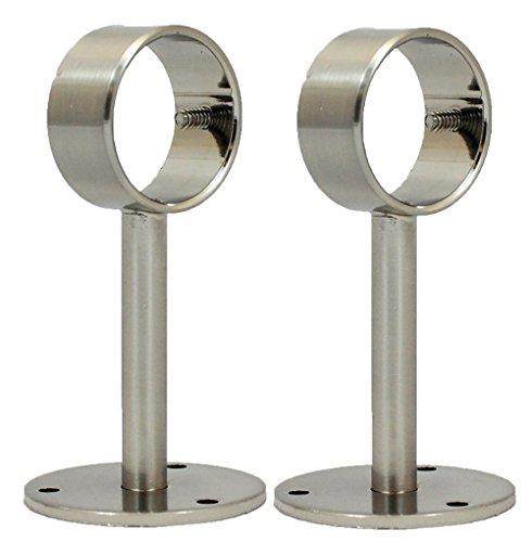 Urbanest Ceiling or Wall Bracket for 1 1/8-inch Rod, 2 pieces, Brushed (Double Ceiling Bracket)