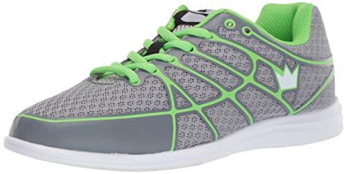 (Brunswick Aura Women's Bowling Shoes, Grey/Lime, 7.5)