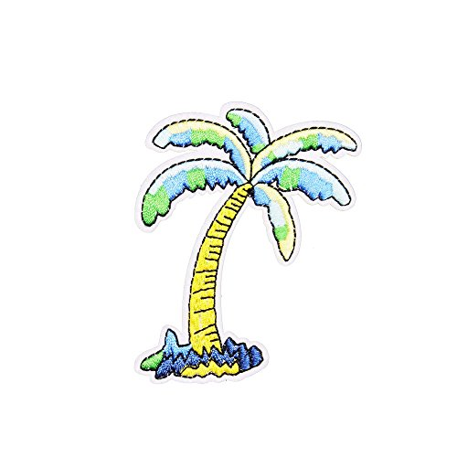 U-Sky Sew or Iron on Patches - Coconut - Iron On Palm Tree
