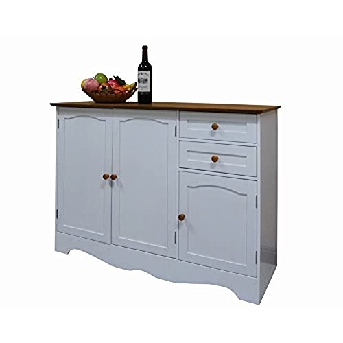 Homecharm Intl 43.3x15.8x30.7 Inch Storage Cabinet,White(HC 001)