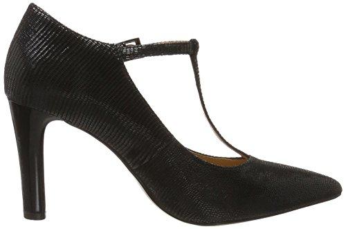 24401 reptile Noire Noir Caprice Merceditas Femme Pour z1H8qB