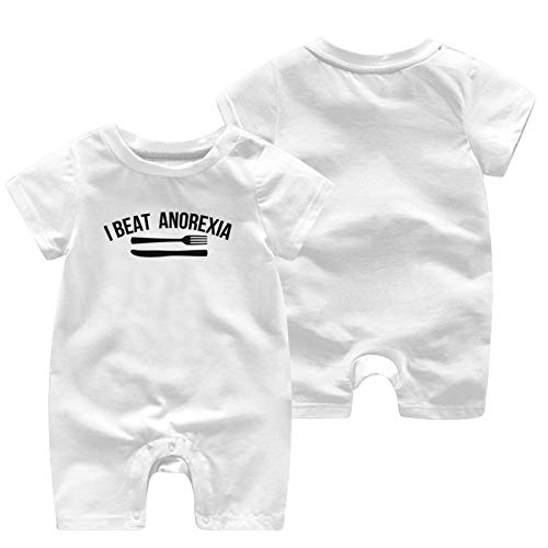 I Beat Anorexia Baby Babys Baby'S Short Sleeve Jumpsuit Bodysuit Cotton Soft Clothes