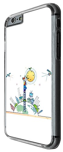 1527 - Cool Fun Trendy cute kwaii animals school sketch illustration funny cartoon fashion space ship alien Design iphone 5C Coque Fashion Trend Case Coque Protection Cover plastique et métal - Clear