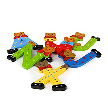 Brink Holzspielzeug Buchstaben Holz T/ür B/ären ABC bunt Holzbuchstaben T/ürschild Bunte Kinderzimmer A