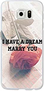 Galaxy S6 Edge Case, Dseason Samsung galaxy S6 Edge Hard Case NEW High Quality Unique Design Christian Quotes i have a dream marry you