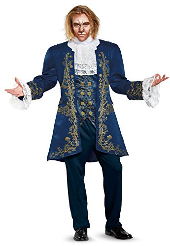 Man Beast Costume (Disney Men's Plus Size Beast Prestige Adult Costume, Blue,)