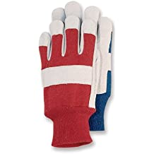 Magid KD30T Kids Leather Palm Glove with Knit Wrist,colors may vary