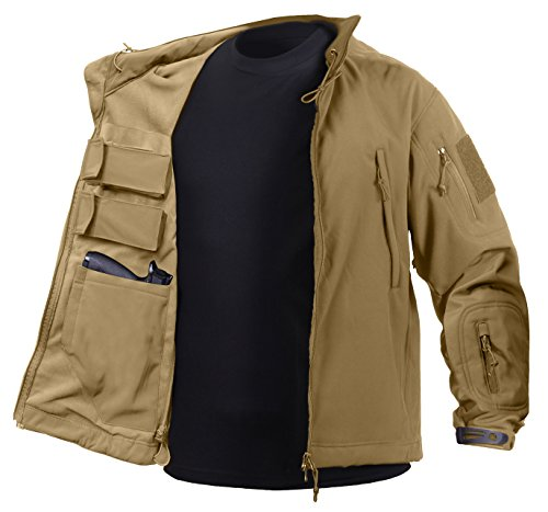 Rothco Concealed Carry Soft Shell Jacket, Coyote Brown, X-Large