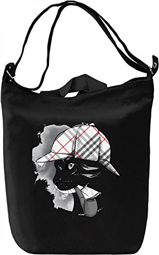 Cate With Pipe Borsa Giornaliera Canvas Canvas Day Bag| 100% Premium Cotton Canvas| DTG Printing|