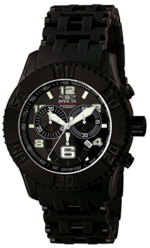 Invicta Men's 6713 Sea Spider Collection Chronograph Black Ion-Plated Stainless Steel Watch Black Ion Chronograph Watch