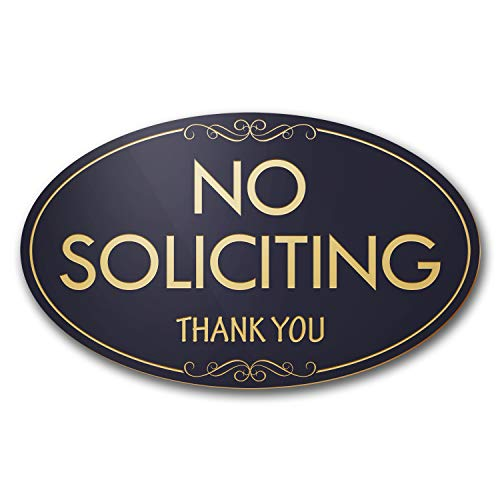 - No Soliciting Laser Engraved Sign - 3