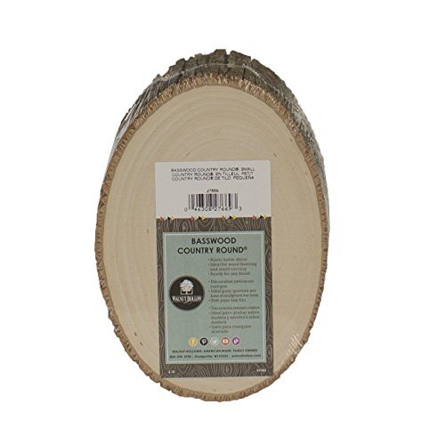 Basswood Country Rounds Plaque-5-7 Wide