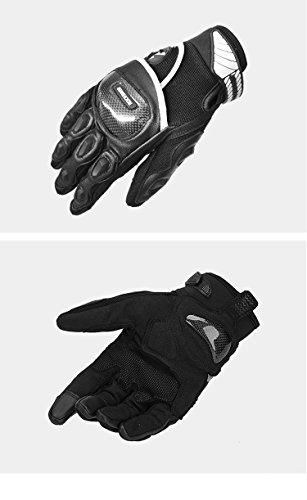 ETbotu Professional Men Riding Gloves Carbon Fiber Anti-Slip Breathable Cross-Country Racing Gloves Motorcycle Military Tactical Combat Training Army Shooting Outdoor Gloves