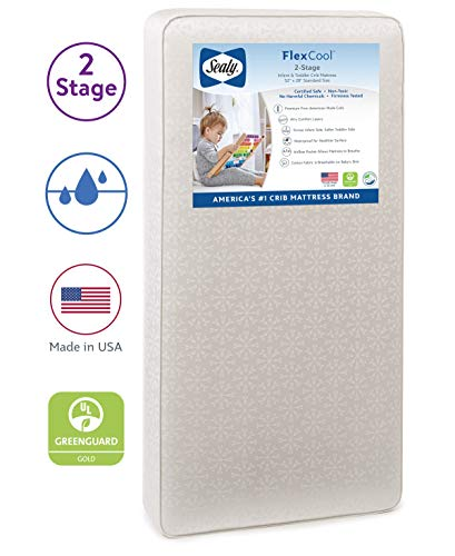 Sealy Baby Flex Cool 2 Stage Airy Dual Firmness Waterproof Standard Toddler Baby Crib Mattress 51 7 X 27 3