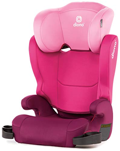 Diono Cambria 2 High-Back Children's Booster Seat - 6 Position Head-Support, 40-120 Pounds, Pink ()