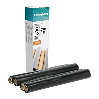 OfficeMax Black Fax Refill Rolls, 2-Pack Compatible Sharp UX-3CR