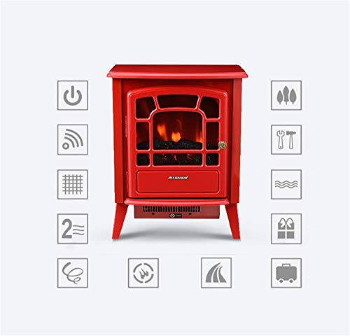 YXIUER Portable Fireplace - Tall Freestanding Features Heater and 2 Fan Settings and and