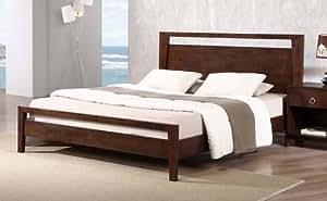 Amazon Com Kota Modern Queen Size Solid Wood Platform Bed