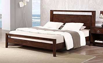 kota modern queen size solid wood platform bed frame