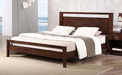 Amazon.com: Kota Modern Queen Size Solid Wood Platform Bed Frame