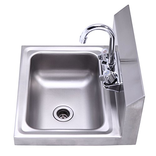 commercial wall mount stainless steel hand wash sink washing wall mount kitchen restaurant heavy duty - Hand Wash Sink