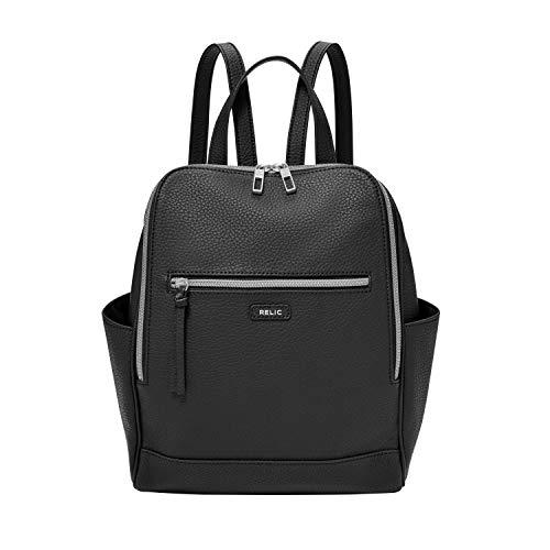 Relic by Fossil by Fossil Women's Kinsley Backpack Handbag Purse, Black (Fossil Handbag Purse)