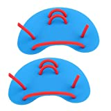 Baoblaze Swimming Water Resistance Hand Paddles Fins Gloves for Swim Pool Strength Power Training Fitness