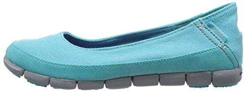 Crocs 15317 Pool Donna Sneaker Stretch Sole Grey Grau Flat light BqxrBgPw6