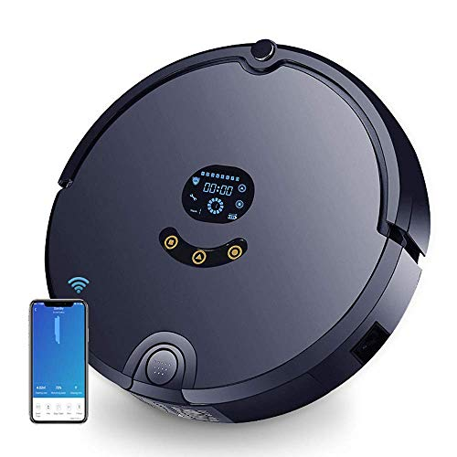 Self-Charging Robot Vacuum Cleaner with Max PowerRobot Vacuum and Mop Combo with Remote,Robotic Auto Home Cleaning Smart Navigating with Smart Mapping System Perfect for Hard Floor Carpet and Pet Hair