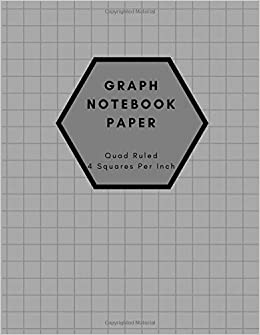 graph notebook paper quad ruled 4 squares per inch graph paper
