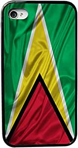 Rikki KnightTM Guyana Flag Design iPhone 5 & 5s Case Cover (Black Rubber with bumper protection) for Apple iPhone 5 & 5s by icecream design