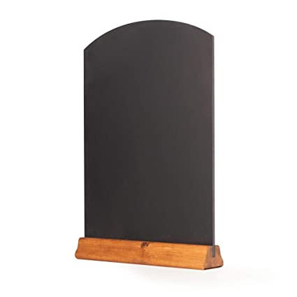 Chalkboards UK Pizarras de Mesa con peana, Madera, Roble Oscuro, (A3) 42 x 30 x 4 cm