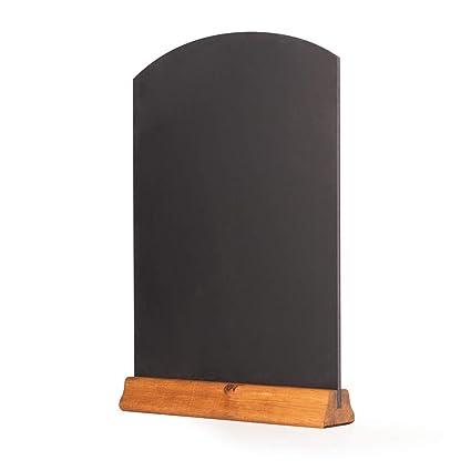 Chalkboards UK Pizarras de Mesa con peana, Madera, Roble Oscuro, (A3) 42 x 30 x 4 cm
