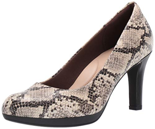 Red Heel Shoes - CLARKS Women's Adriel Viola Pump, Taupe