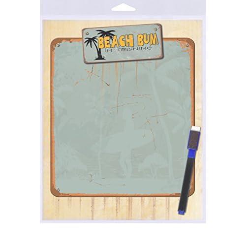 "(SJT40902) Beach Bum in Training Dry Erase Memo Board 8"" x 10"""