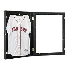 "HOMCOM Jersey Frame Display Case Football Baseball Basketball Shirt Shadow Box Cabinet (28""x35"" Black)"