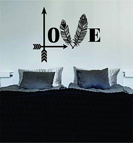 Love Arrows Tribal Feathers Art Decal Sticker Wall Vinyl Bedroom Home