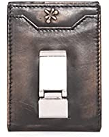 HOJ Co. Deacon ID BIFOLD Front Pocket Wallet BLACK - Money Clip Wallet - Exterior ID Window