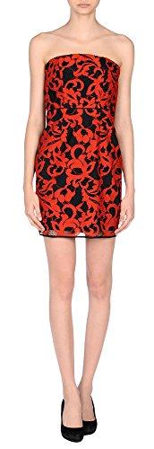 Diane von Furstenberg Lace Walker 2-Toned Lace Dress (12 US, Electric - Red Von Dress Furstenberg Diane