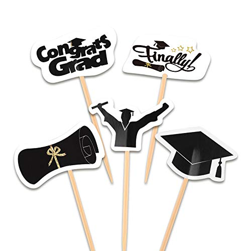- FEPITO 100 Pieces Toothpick Flags Cupcake Toppers Cheese Markers Graduation Party Cake Food Cheeseplate Appetizers