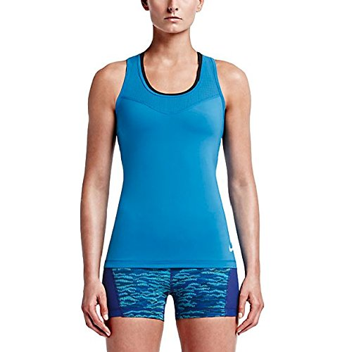 Nike Womens Dri-Fit Pro Hypercool Training Tank Top, Blue, X-Small, 725726 435