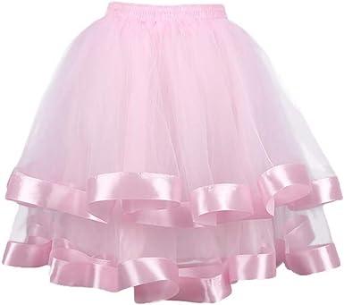 LUOEM Vestido de Falda de tutú de Doble Capa de Tul para Mostrar ...