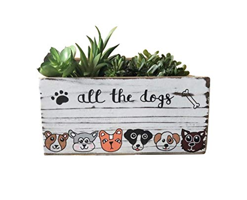 (All the Dogs Custom Bin and Planter)